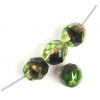 Fire Polished 8mm Green/Brown
